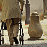Four-wheeled walker – a complete care for the aged and injured